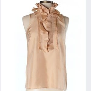 J. Crew Collared Silk Sleeveless Blouse